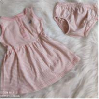 Vestidinho Carter`s com tapa fralda 9 meses - 9 meses - Carter`s