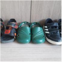 Kit 3 peças tênis sandália e croc - 29 - Adidas e Grendene Kids