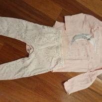 Pijama de estrelinha - 9 a 12 meses - Jessica simpson