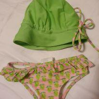 Biquini com chapeuzinho - 3 a 6 meses - Green e Green/Tilly/Milon/GliAmic