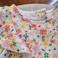 Vestido zara floral - 9 a 12 meses - carter`s, baby gap, zara