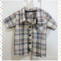 Camisa social manda curta - 6 a 9 meses - Angerô