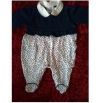 Macacão poá azul marinho - Recém Nascido - Noruega Baby