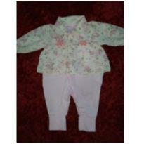 Macacão floral rosa - 0 a 3 meses - Aconchego do Bebê