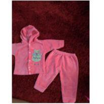 Conjuntinho rosa pink - 0 a 3 meses - Não informada
