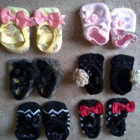 Kit 06 pares sapatilhas de meia - 3 a 6 meses - Lupo