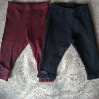Kit 02 calças - 0 a 3 meses - Variadas