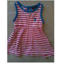 Vestido listrado lindíssimo - 6 a 9 meses - US Polo Assn