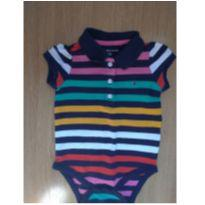 Body gola polo tommy - 6 a 9 meses - Tommy Hilfiger
