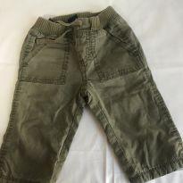 calça verde militar forrada da gap baby - 0 a 3 meses - GAP