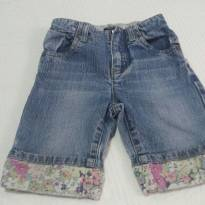 Calça Jeans Floral Baby Gap - 12 a 18 meses - Baby Gap