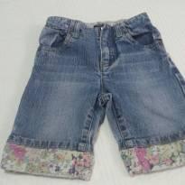 Calça Jeans Floral Baby Gap - 12 a 18 meses - Baby Gap