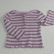 Camiseta  Old Navy Listrada - 6 a 9 meses - Old Navy