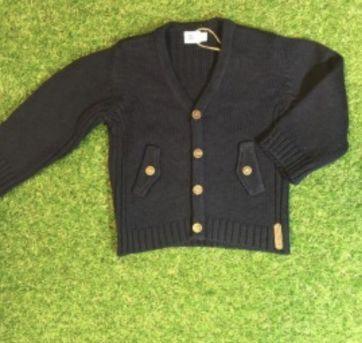 Casaco de tricot azul marinho - 9 meses - Petit Valutin