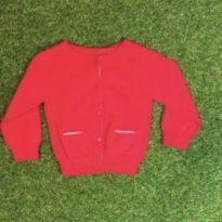 Casaquinho vermelho de tricot - 6 a 9 meses - Não informada