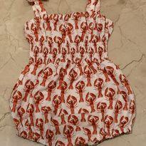 Roupa de banho (swimsuit) com estampa de lagosta - 9 a 12 meses - Rachel Riley