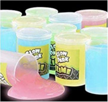 Caixa com slime neon - brilha no escuro - Sem faixa etaria - Não informada