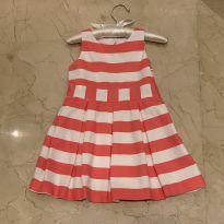 Vestido com listras rosa e branco - 2 anos - Jacadi Paris