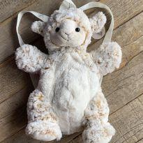 Mochila infantil de pelúcia - ovelha