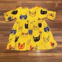 Vestido de gatinhos - A Fábula - 2 anos - Marca não registrada