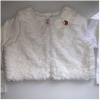 Bolero Momi branco, tamanho 2 - 2 anos - Momi