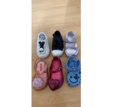 Sapatos infantis 17/18 - 18 - Melissa e ALL STAR - Converse