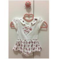 Vestido rosinhas vermelhas - 3 a 6 meses - Anjos baby