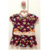 Vestido Raposinha - 3 a 6 meses - Alphabeto