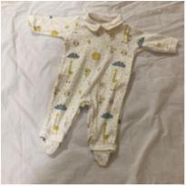 Macacão com pezinho Safari - 3 meses - Anjos baby e Anjos Chic