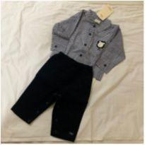 Conjunto camisa - 6 meses - Anjos baby e Anjos Chic