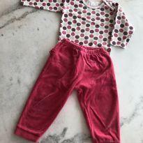 Conjunto calça pink - 18 meses - Anjos baby