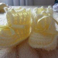 Sapatinho de lã - 15 - sapatinho lindo de crochê