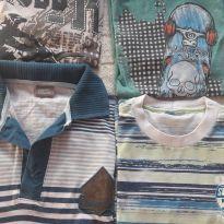 Lote de camisetas - 8 anos - Brandili e George
