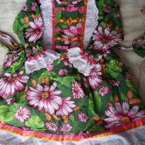 Vestido festa junina - 4 anos - Ateliê Laços e Mimos