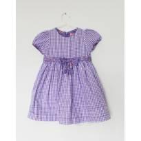 Vestido Xadrez Lilás Children´s Place - 18 meses - 18 meses - Children`s Place
