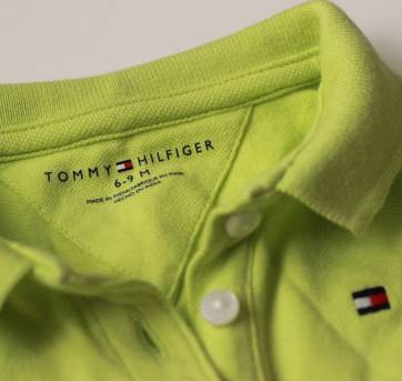Body Verde Limão Tommy Hilfiger 6/9 meses - 6 a 9 meses - Tommy Hilfiger