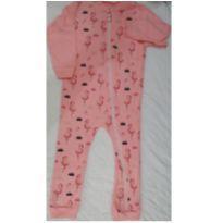 Macacão rosa flamingos - tam 18/24 meses - 18 a 24 meses - Somos Corujas