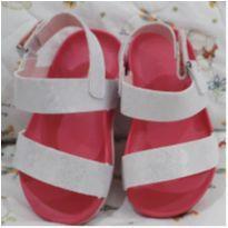 Sandália branca e rosa - tam 21 - 21 - Pimpolho