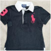 Camisa Polo Ralph Lauren tam 2T Preta- Original - 2 anos - Ralph Lauren