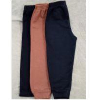 Kit 3 calças moletom peluciado tam 6 - 6 anos - sem etiqueta
