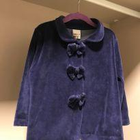 Casaco veludo azul marinho - 2 anos - KAIANI