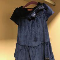 Vestido festa veludo azul marinho - 2 anos - Momi