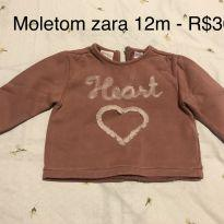 Moletom Zara 12m - 1 ano - Zara Baby