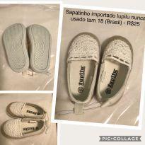 Sapatinho branco importado Lupilu TAM18 - 18 - lupilu