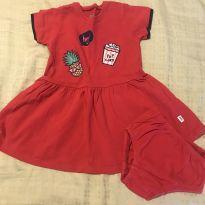 Vestido PUC vermelho tam1 - 1 ano - PUC