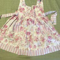 Vestido rosa florido tam1 - 1 ano - Não informada
