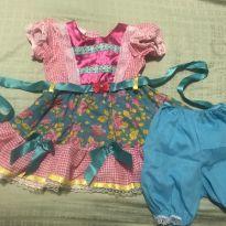 Vestido de festa junina TAMG - 2 anos - Não informada