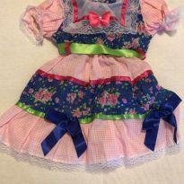 Vestido de festa junina TAMG - 12 a 18 meses - Não informada