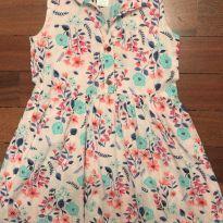 Vestido florido Carters 3T - 3 anos - Carter`s