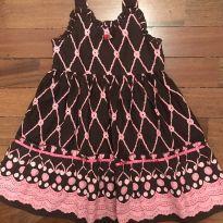 Vestido importado marrom e rosa TAM4 - 4 anos - Blueberi Boulevard - USA
